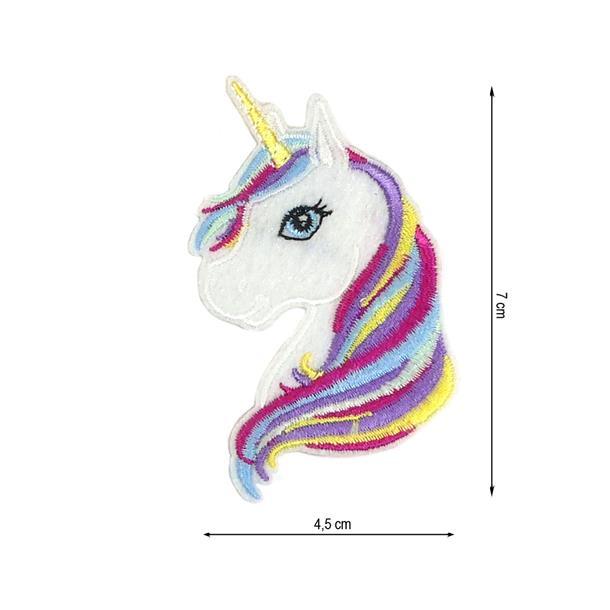 Parche termo unicornio bco