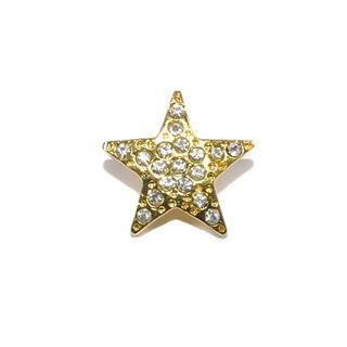 Boton strass estrella 24mm.oro