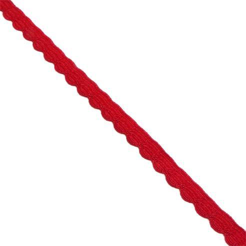 Puntilla bolillo feston rojo