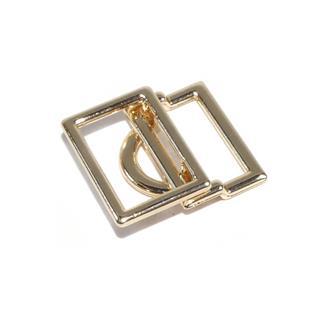 Corchete rectang.15mm.oro