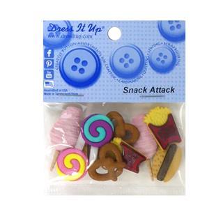 Kit botones 10uni.snack attack