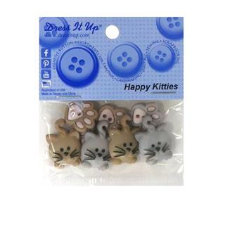 Kit botones 8uni.happy kitties