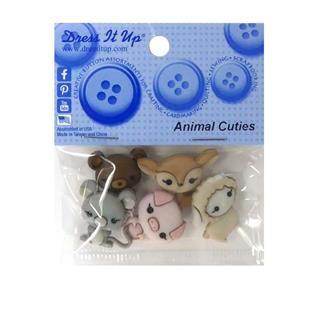 Kit botones 5uni.animal cuttie