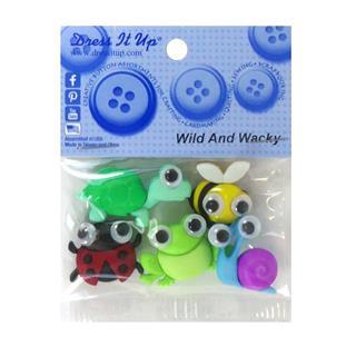 Kit botones 5uni.wild & wacky
