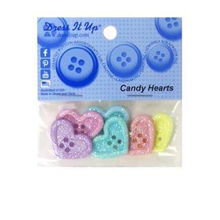 Kit botones 6uni.candy hearts