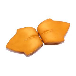 Broche inyecc.hoja naranja