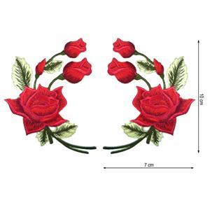 Parche termo par ramo rosas rj