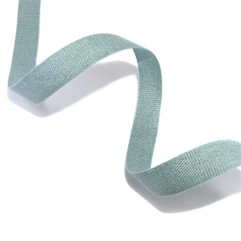 Cinta lino/alg.25mm.azul artic
