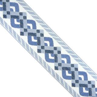 Cubrecos.cenefa griega azules