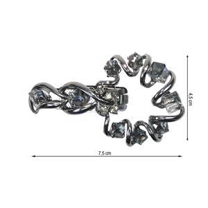 Broche strass pinza+spiral pav