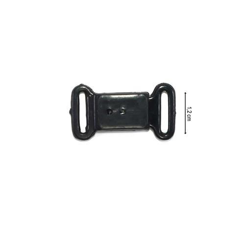 Broche bikini puls.negro 12mm.