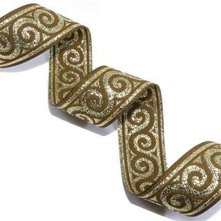 Cubre romano caracol marro+oro