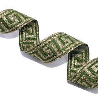 Cubre romano griego verde+oro