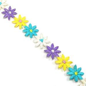 Guipur bordado flores termoadh