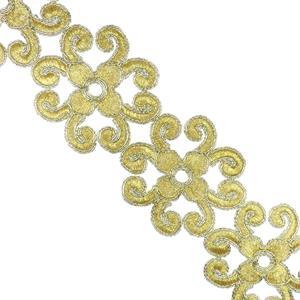 Galon dorado flor+8petalos