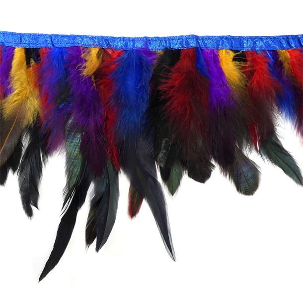 Fleco plumas 19cm. multicolor