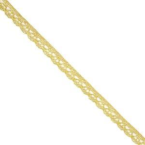 Puntilla bolillo dorado 10mm.