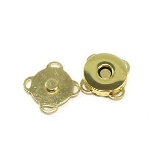 Cierre iman coser 15mm.oro