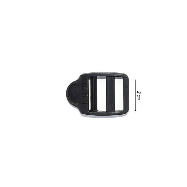 Hebilla tensor abs 20mm.negro