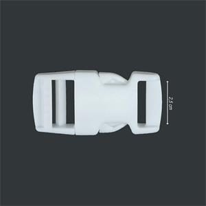 Cierre mochila 25mm. blanco