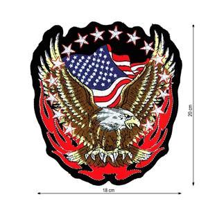 Parche aguila+bandera american