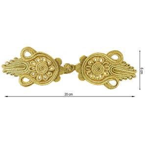 Alamar metalizado 19x6cm.oro