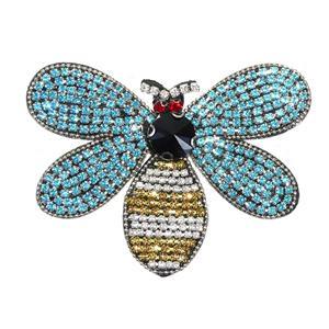 Aplicacion abeja strass azul