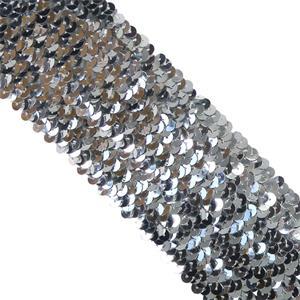 Lentejuela elasti.150 mm.plata