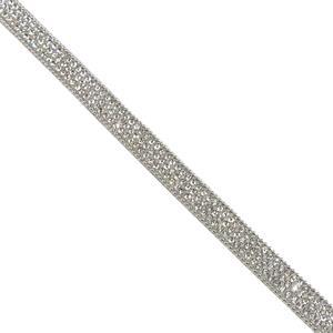 Galon strass+cadena plata