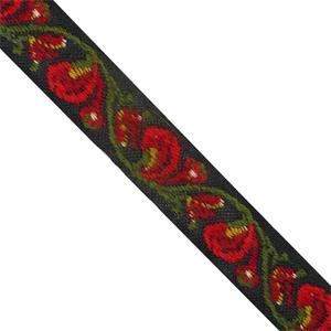 Cubrec.bord.flor rojo+verdes