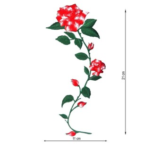 Aplicacion bord.flor rojo