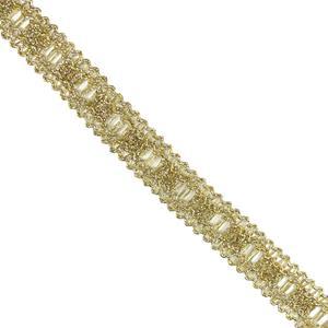 Pasamaneria dorada metal 2cm.
