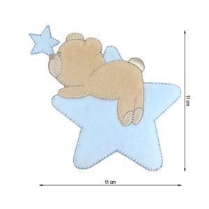 Parche termo oso+estrellas cel