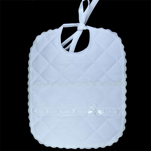 Babatel acolch.+bordado blanco