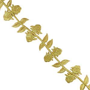 Galon termo rama hoja-flor oro