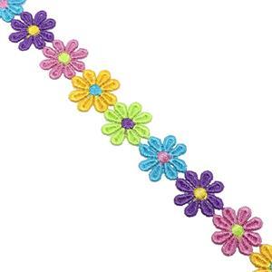 Guipur bordado flores colores