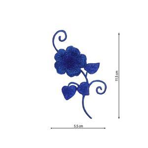 Aplicacion bord.flor azulon