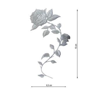 Aplicacion bord.flor gris