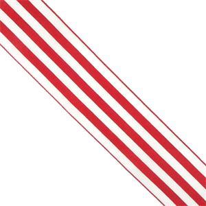 Cinta nylon rayas rojo+blanco