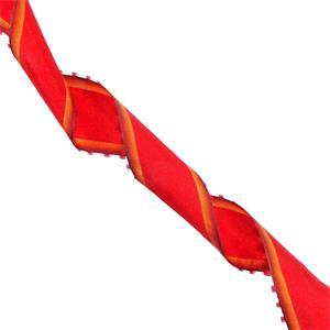 Cinta nylon+fleco rojo+nrja