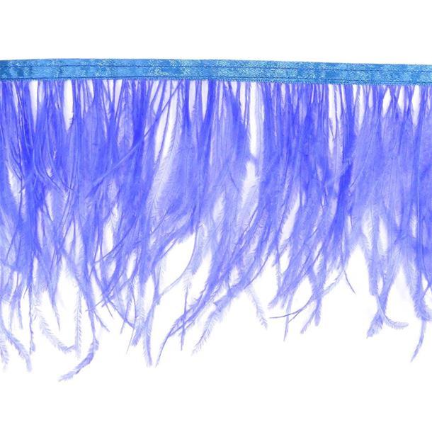 Fleco plumas avestruz azulon