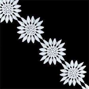Guipur flor girasol bco.5cm.
