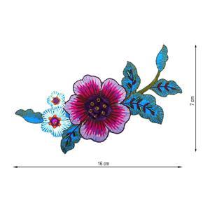 Aplicacion bord.flor fux+turqu