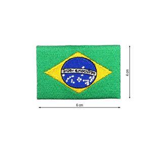 Parche bandera brasil 6x4cm.