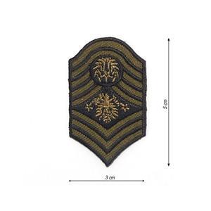 Parche insignia verde-negro