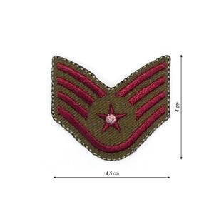 Parche insignia verde-roja