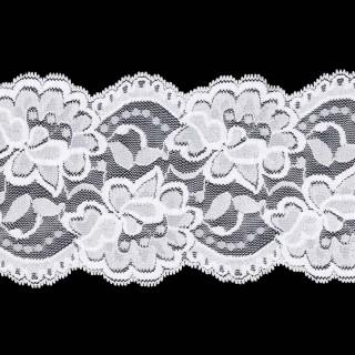Puntilla elastica blanco