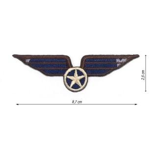 Parche estrella militar alas