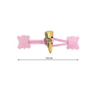 Broche trenka rosa+madera tall