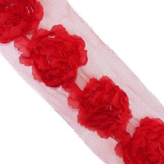 Tira flores 8cm. rojo